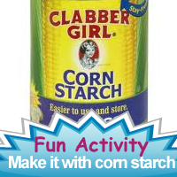 Recipes for making art supplies with corn starch