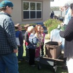 learning about farming and plants at la costa valley preschool and kindergarten with Phill from Carlsbad Flower Fields