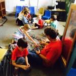 Preschool and Kindergarten La Costa Valley Preschool and Kindergarten exploring building in science and technology class.