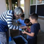 Students learning hands on about seeds, planting and how things grow via Carlsbad Flower Fields guest speaker