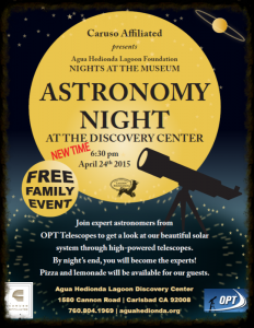 Astronomy Night at Agua Hedionda Lagoon Discovery Center - Family Friendly